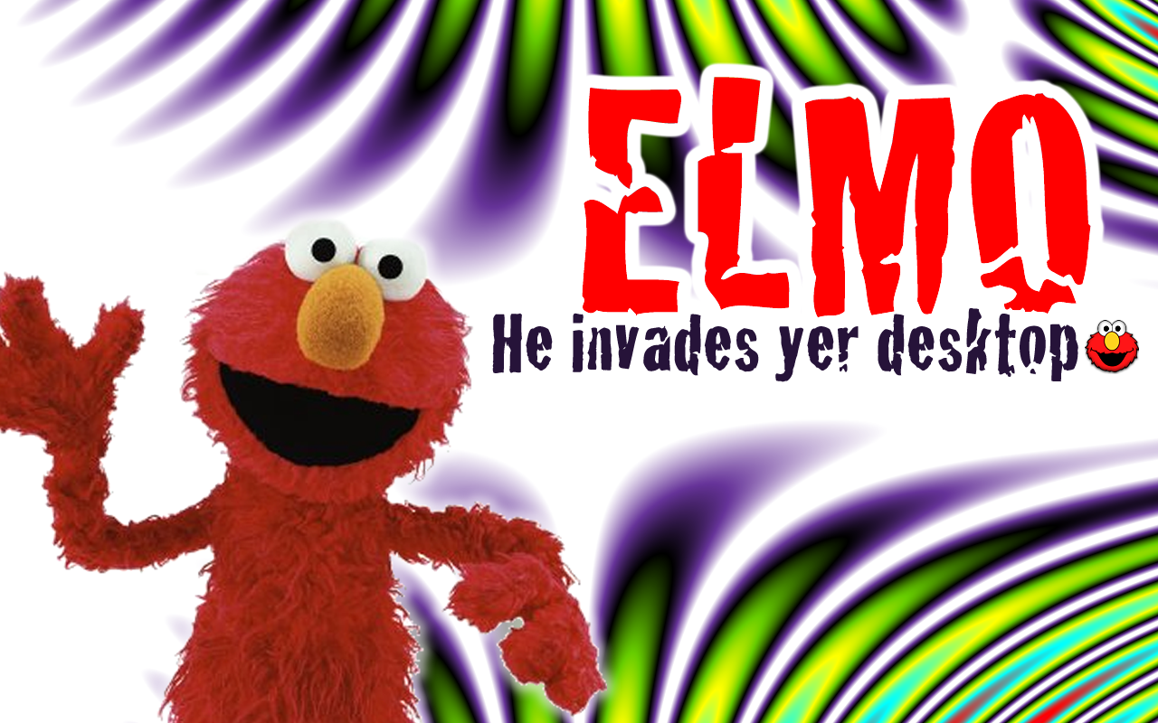 Elmo Wallpaper Awesome not really Shiver Stuff