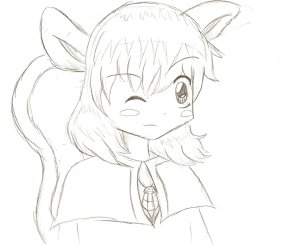 It's Nazrin, the tiny, tiny, clever mouse commander.