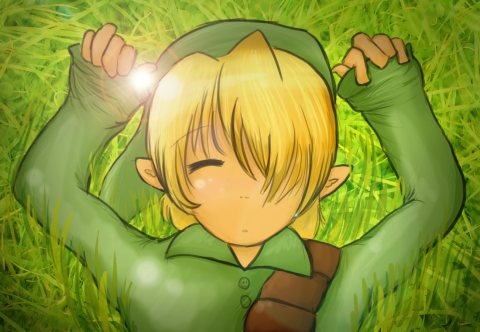 Legend of Zelda Link sleeping on your desktop